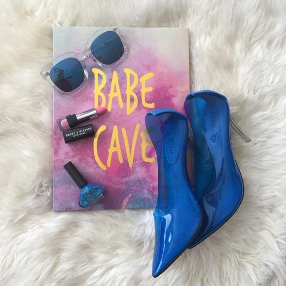 Clear Blue Perspex Heels ✨as seen on Kim K✨